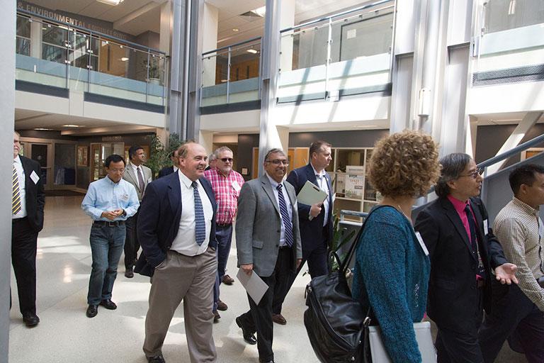 Robotic bridge inspection researchers gather at S&T